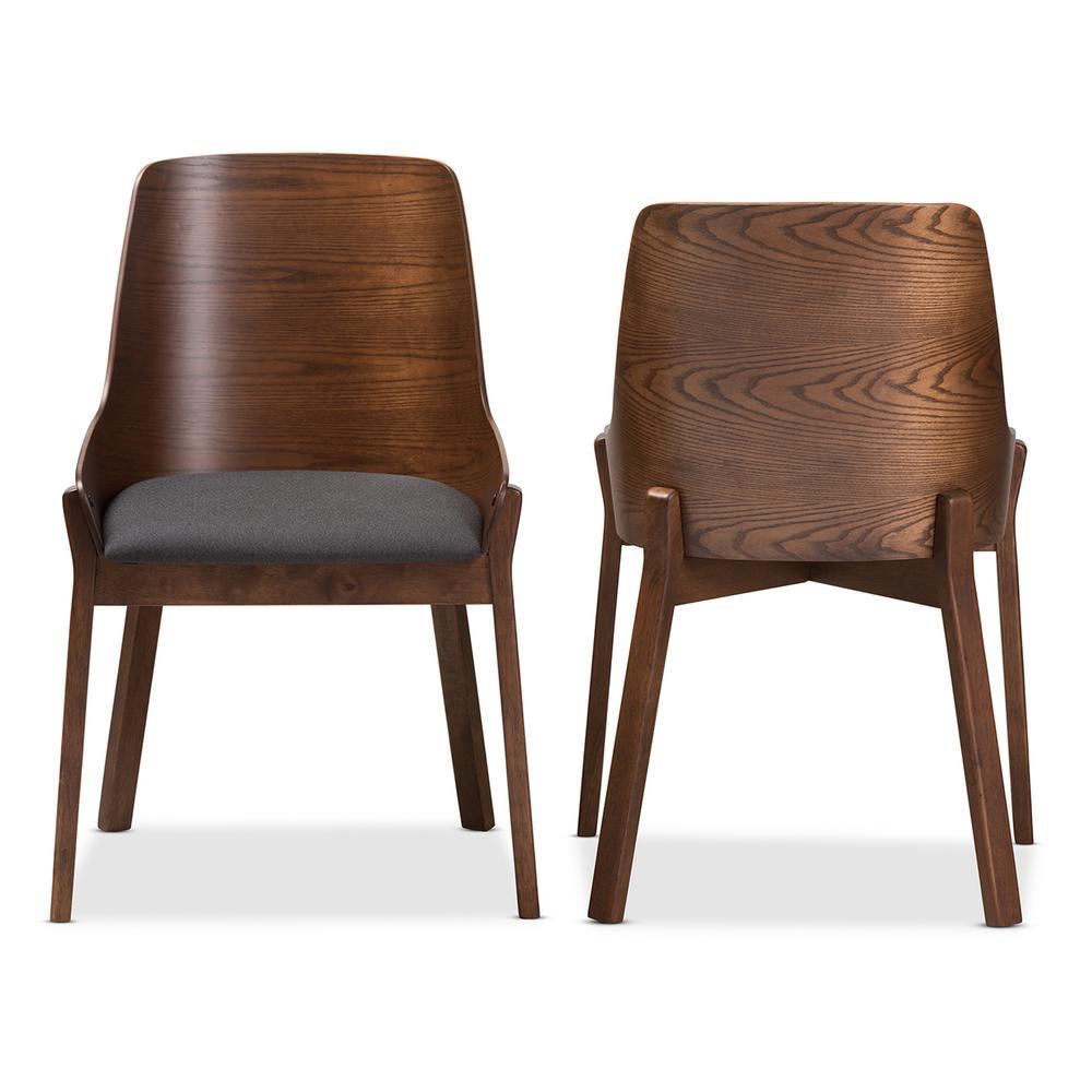 Rye Dark Grey Fabric Dining Chair (Set of 2)