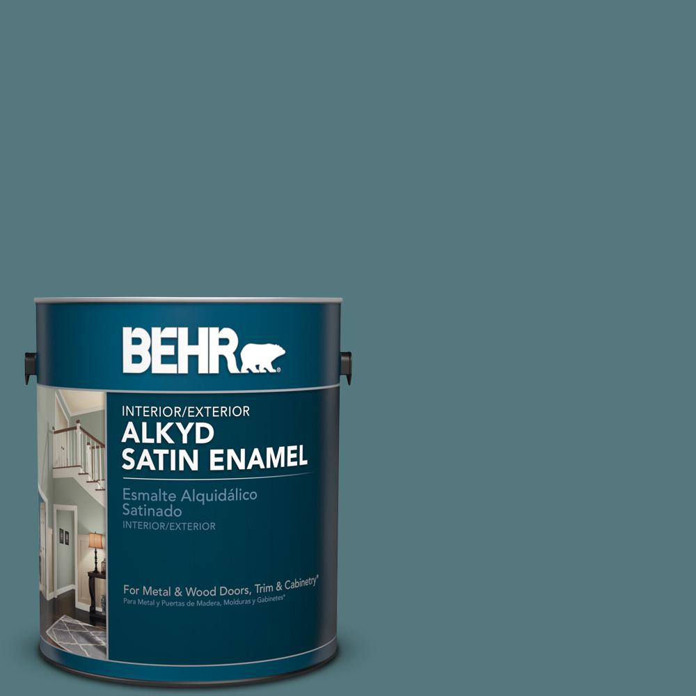 1 gal. #BXC-81 Crater Lake Satin Enamel Alkyd Interior/Exterior Paint