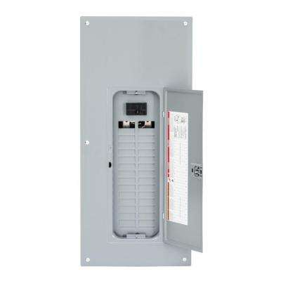 Homeline 100 Amp 30-Space 60-Circuit Indoor Main Breaker Plug-On Neutral Load Center with Cover