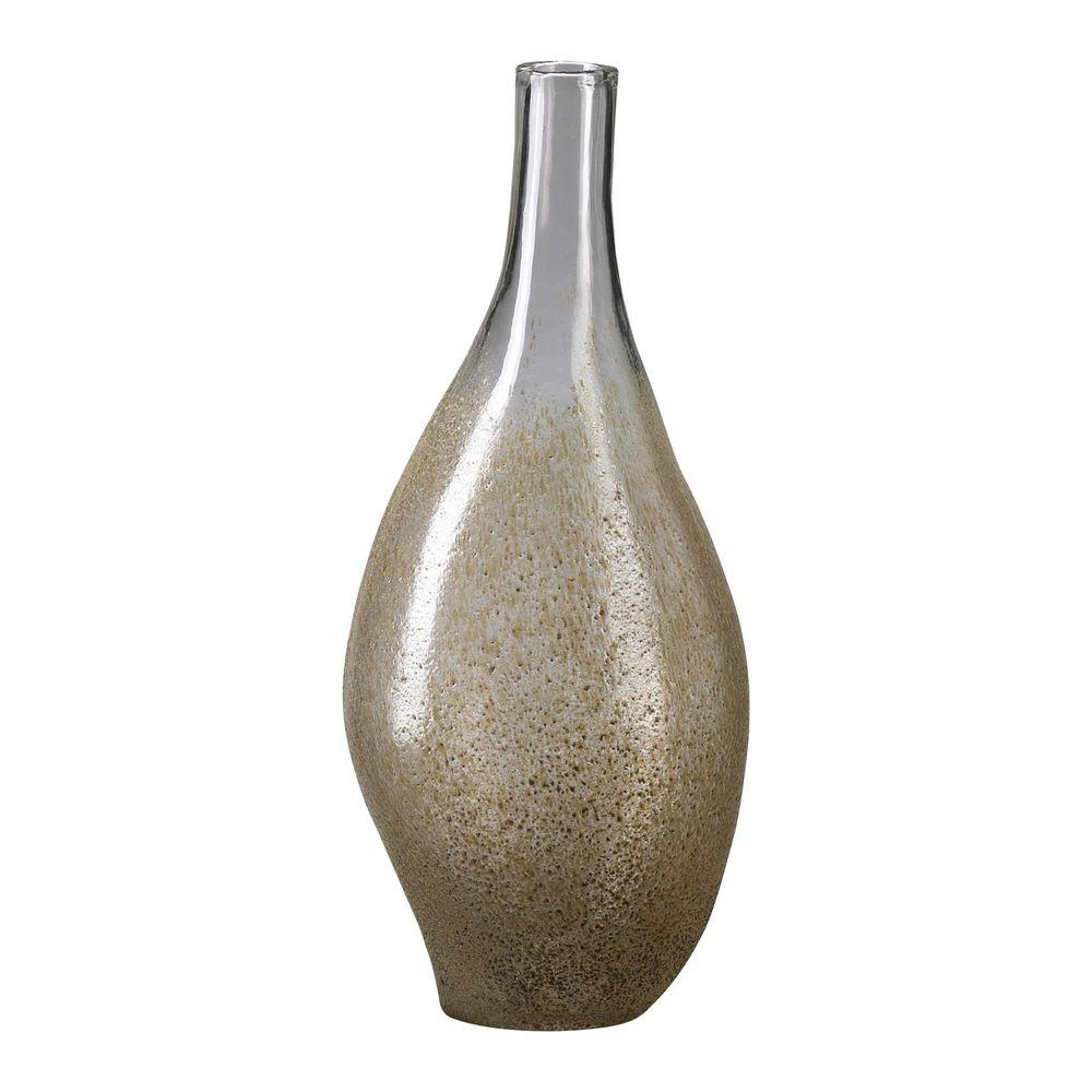 Filament Design Prospect 18.25 in. x 8 in. Clear And Mocha Vase