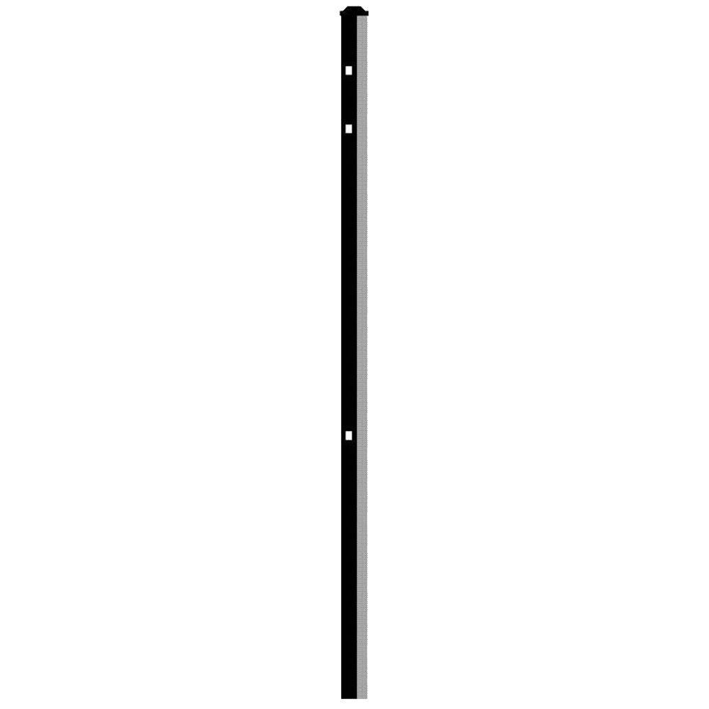 Cosmopolitan 2 in. x 2 in. x 5-5/6 ft. Black Aluminum