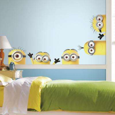 5 in. x 19 in. Despicable Me 3 Peeking Minions Giant 5-Piece Peel and Stick Wall Decals