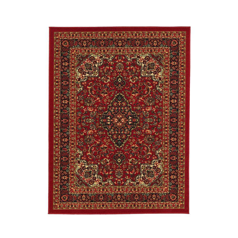 red and white carpet pattern. ottohome collection persian heriz oriental design red 8 ft. 2 in. x 9 ft and white carpet pattern