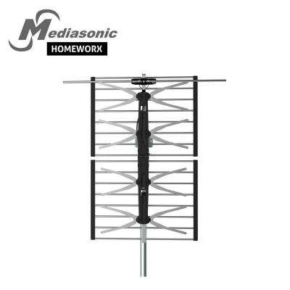 HomeWorx HDTV Digital TV Outdoor Antenna 100 Miles Range Support UHF / VHF / FM