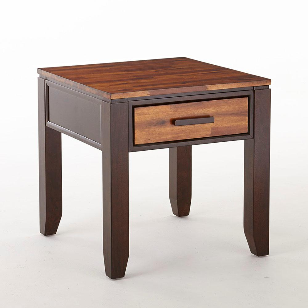Abaco Modern 2 Tone Cherry End Table