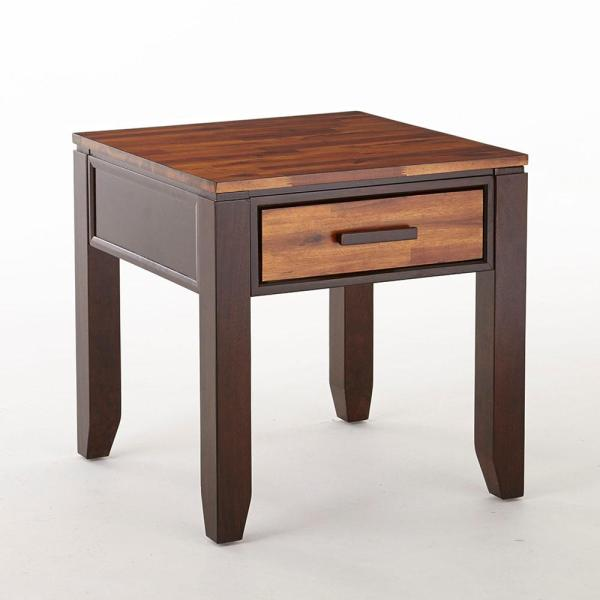 . Abaco Modern 2 Tone Cherry End Table