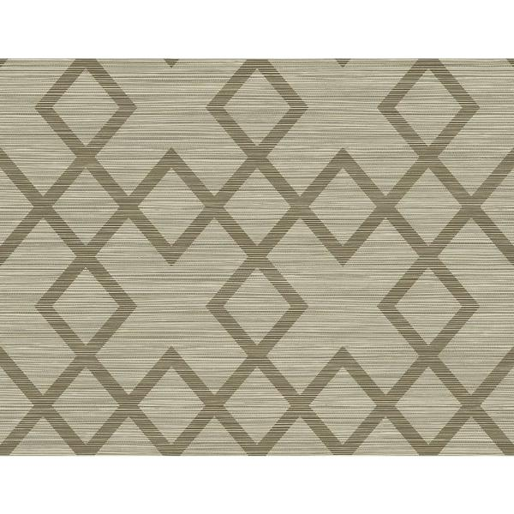 Kenneth James 60.8 sq. ft. Vana Brown Woven Diamond Wallpaper 2765-BW40406