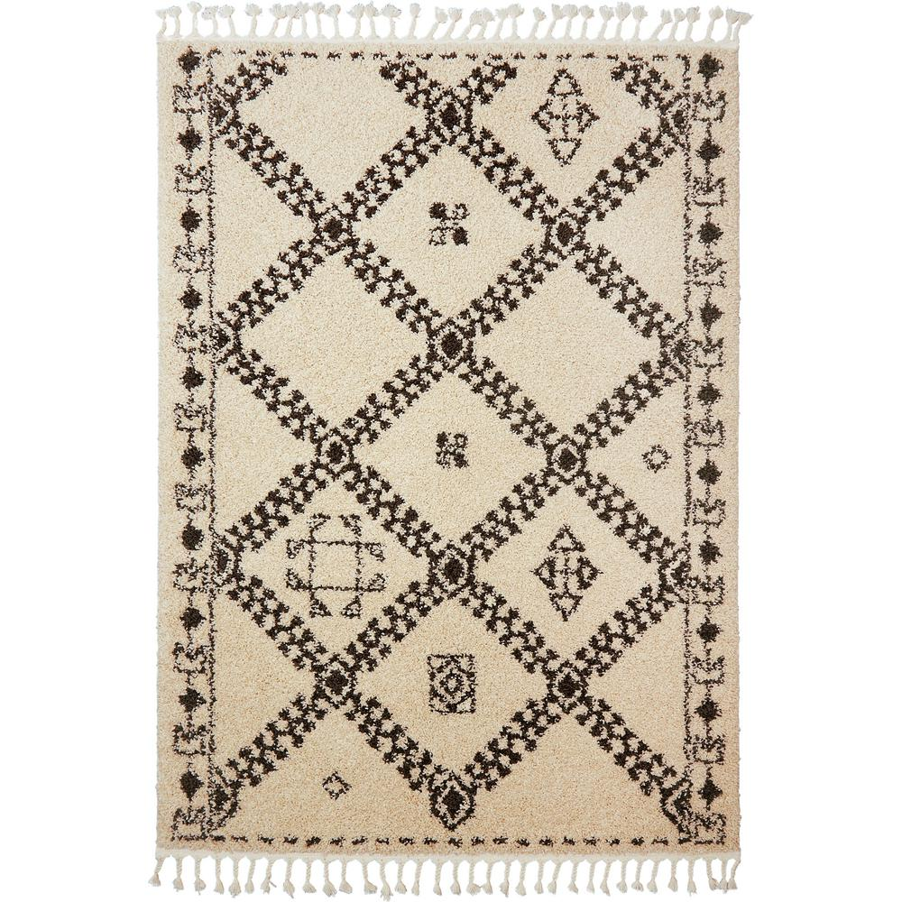 Nicole Miller Nepal Mandala Ivory 7 Ft 10 In X 2 Indoor Area Rug 1 033 100 The Home Depot