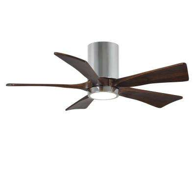 Irene 42 in. LED Indoor/Outdoor Damp Polished Chrome Ceiling Fan with Light