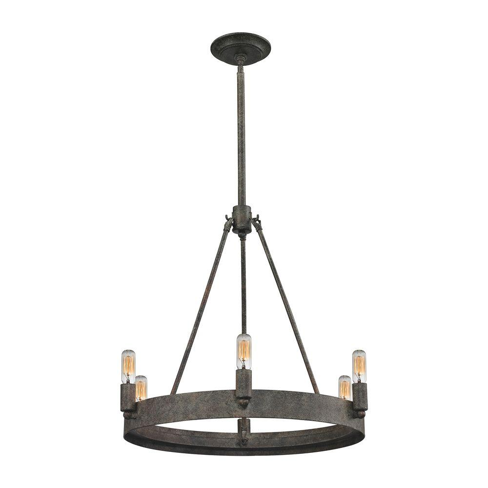 Lewisburg 6-Light Malted Rust Chandelier