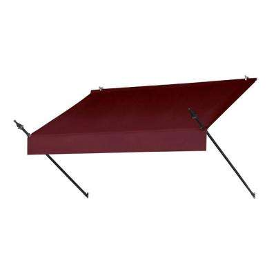 6 ft. Designer Manually Retractable Awning (36.5 in. Projection) in Burgundy