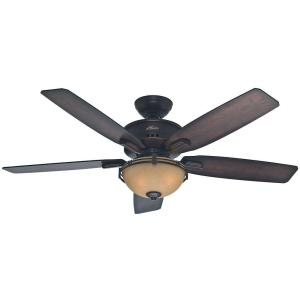 Hunter Morris County 52 inch Indoor Onyx Bengal Bronze Ceiling Fan with Light by Hunter