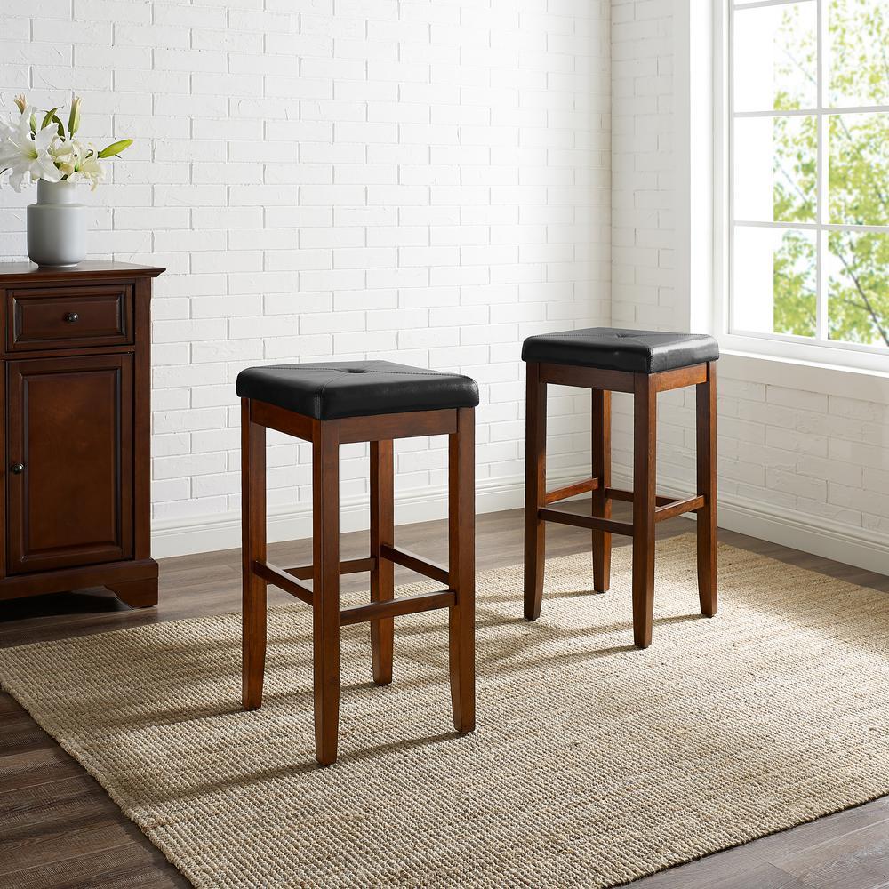 Tremendous Linon Home Decor Claridge 32 In Black Cushioned Bar Stool Andrewgaddart Wooden Chair Designs For Living Room Andrewgaddartcom