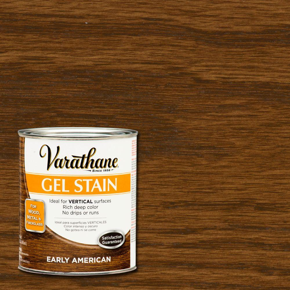 Varathane 1 qt early american gel stain case of 2 - Interior wood stain colors home depot ...