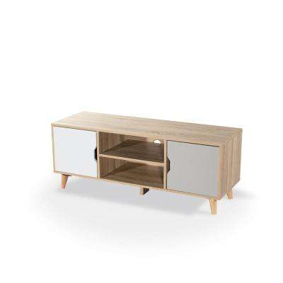 50 in. Modern Tricolor Tahki TV Stand Storage Console