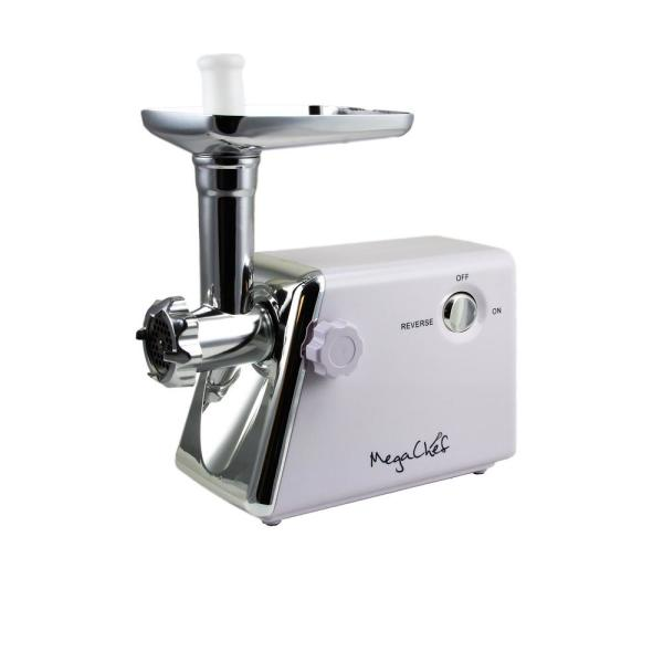 MegaChef MG-700 1200W Meat Grinder with Sausage and Kibbe Attachments 98596263M