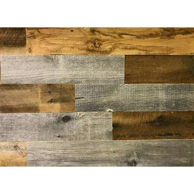 Artis Wall Authentic Reclaimed Wood Wall Planks 3/16 in. Thick x 5 in. High x 12 in. to 44.31 in. Length, 20 sq. ft.