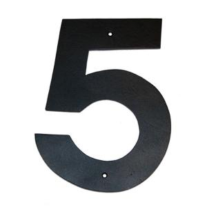 Montague Metal Products 10 inch Helvetica House Number 5 by Montague Metal Products