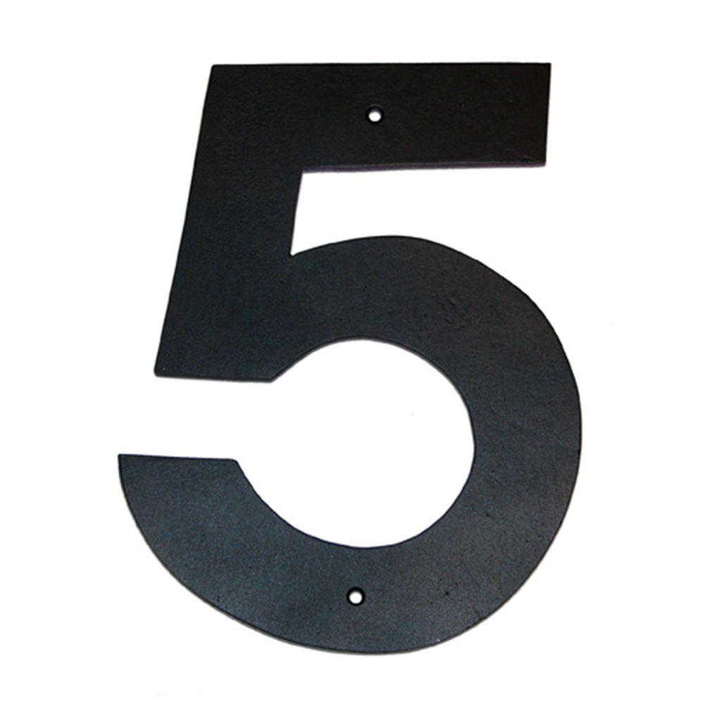Montague Metal Products 6 In  Helvetica House Number 5