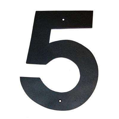 6 in. Helvetica House Number 5