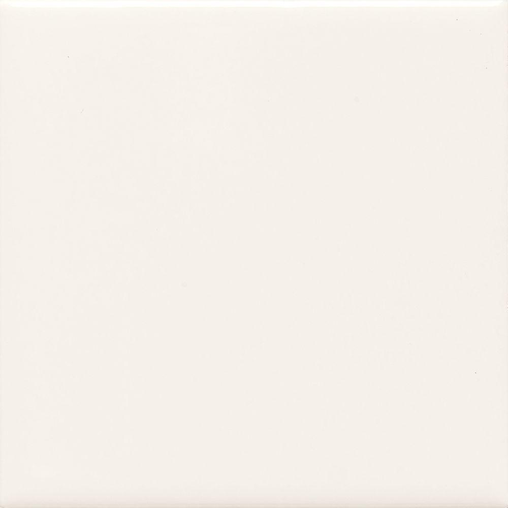 Daltile semi gloss white 4 14 in x 4 14 in glazed ceramic wall daltile semi gloss white 4 14 in x 4 1 dailygadgetfo Image collections
