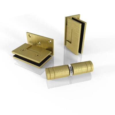 78 in. Bath Tub Door Only Hardware Pack in Satin Brass with Knob