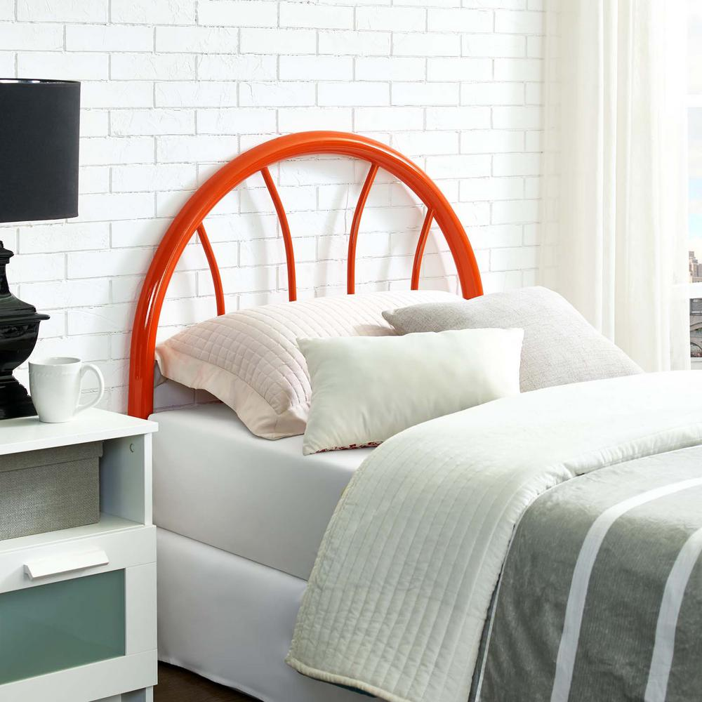 Damaris orange twin steel headboard