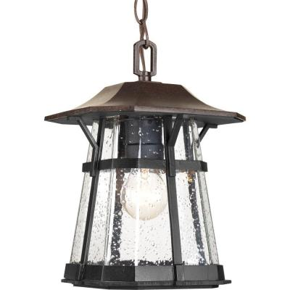 Derby Collection 1-Light Espresso Outdoor Hanging Lantern