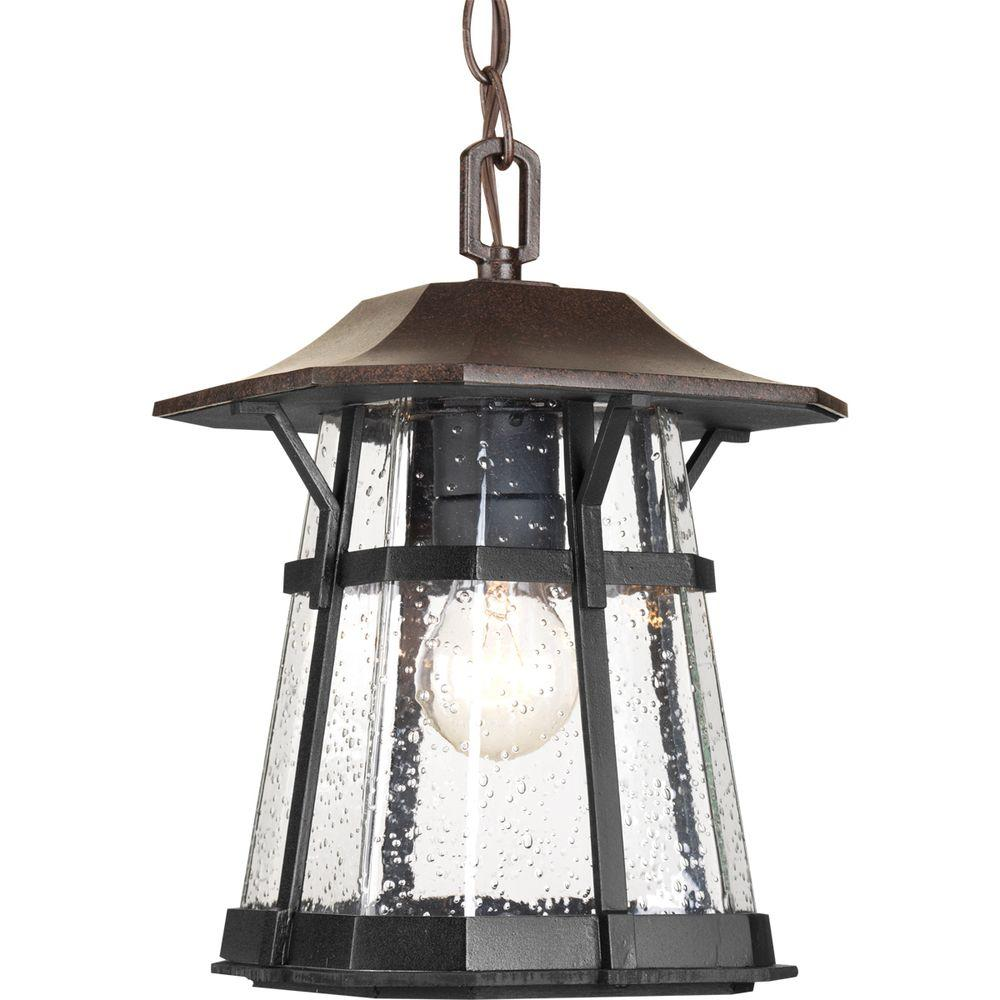 Derby Collection 1-Light Espresso Outdoor Hanging Lantern