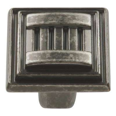 Sydney Collection 1-1/16 in. Dia Black Nickel Vibed Finish Cabinet Knob
