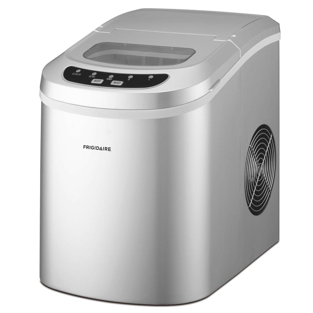 Frigidaire 26 lbs. Freestanding Ice Maker in Silver