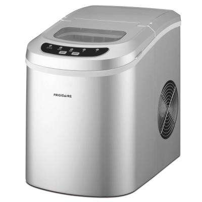 26 lbs. Freestanding Ice Maker in Silver