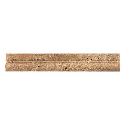 Noce 2 in. x 12 in. Travertine Crown Wall Tile