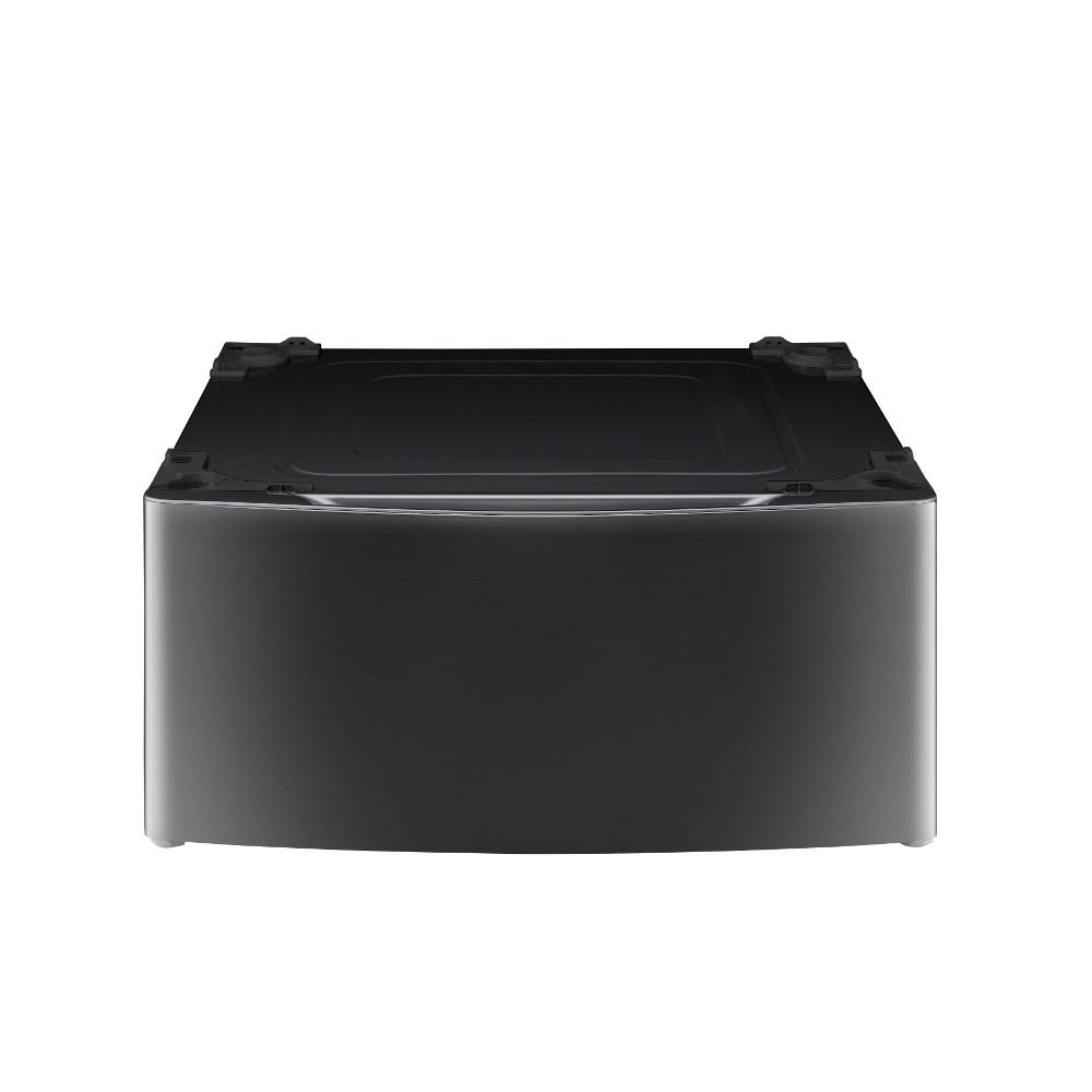 29 in. Laundry Pedestal with Storage Drawer in Black Stainless Steel