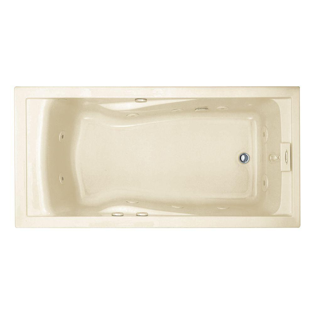 Reversible Drain Whirlpool Tub in. Jetted Whirlpool   Drop in Bathtubs   Bathtubs   The Home Depot