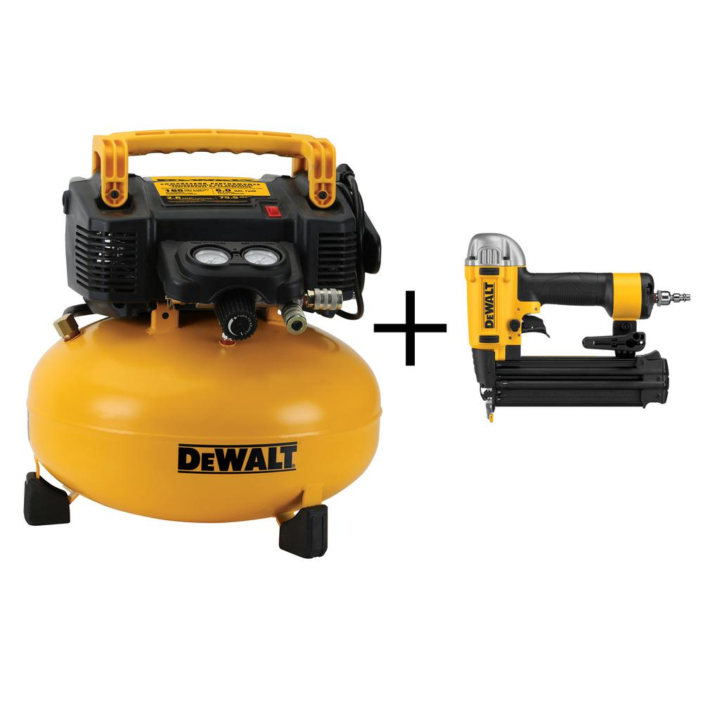 6 Gal. Portable Electric Air Compressor with Bonus Brad Nailer