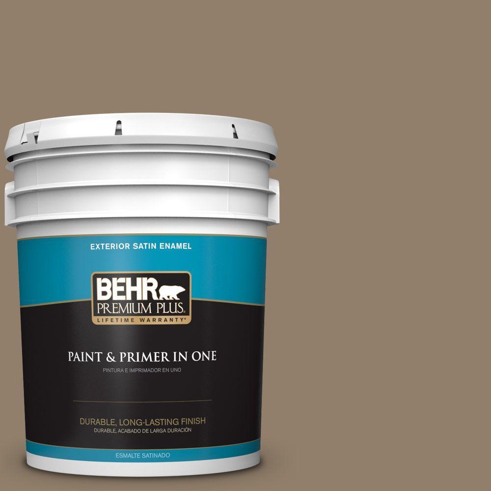 Behr Exterior Paint Home Depot behr premium plus 5gal. hdcnt11 sandalwood tan satin enamel