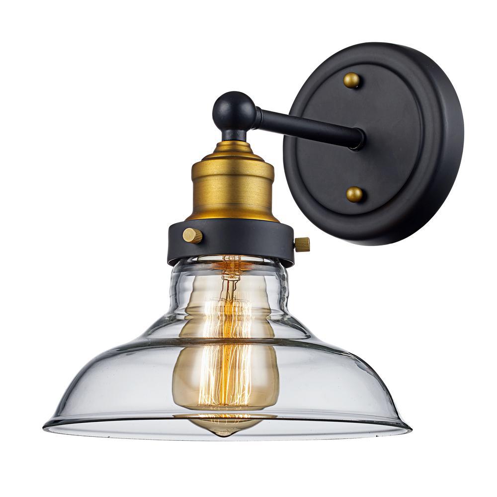 Bel Air Lighting Jackson 1-Light Rubbed Oil Bronze Sconce
