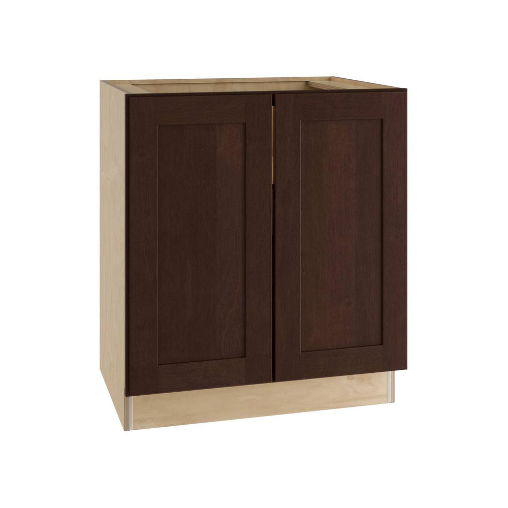 Franklin Assembled 30x34.5x21 in. Double Door Base Vanity Cabinet in Manganite