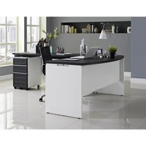 Altra Furniture Altra Pursuit White and Gray Desk with Storage by Altra Furniture