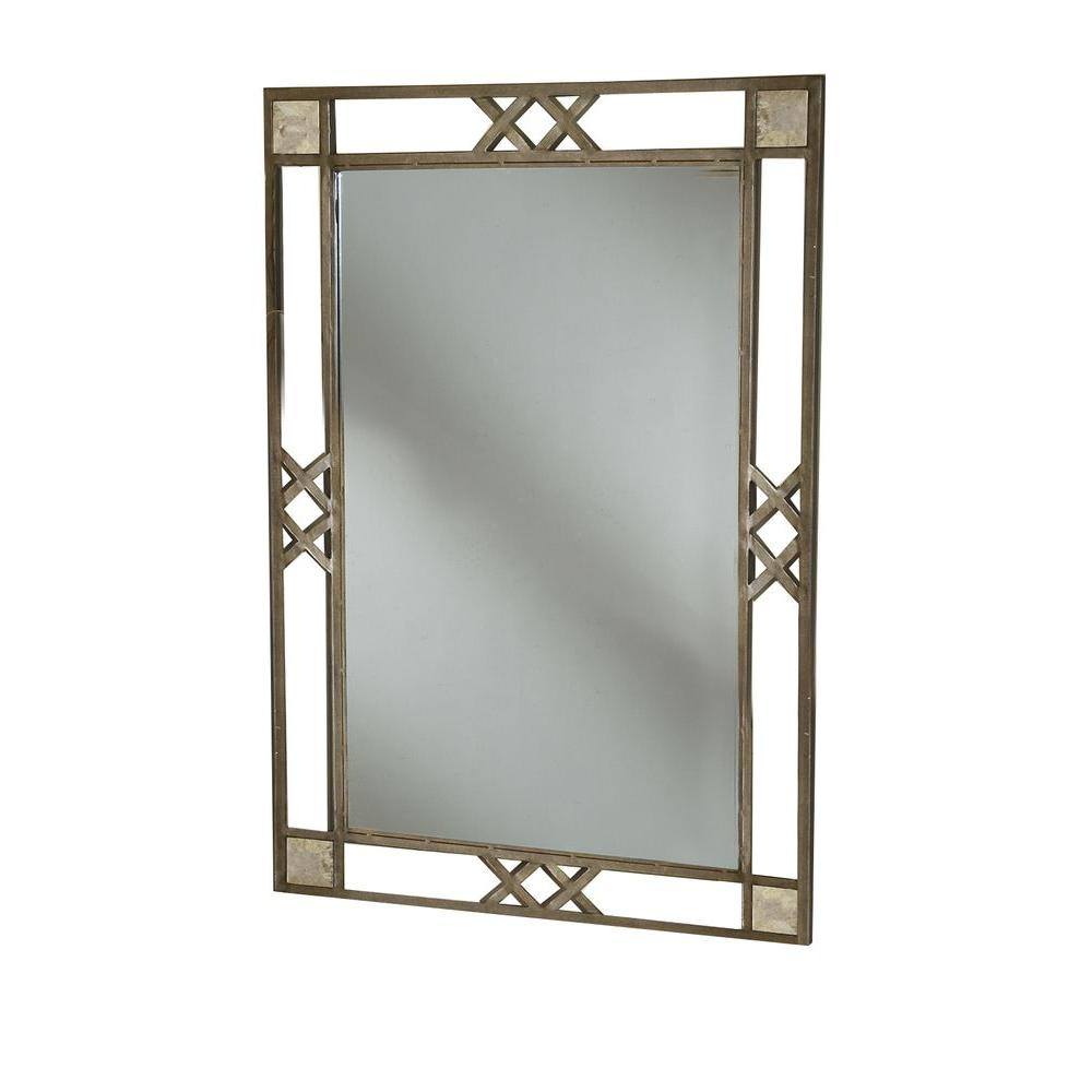 Hillsdale Furniture Brookside 46 in. x 32 in. Metal Framed Mirror