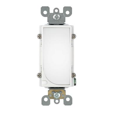 Decora LED Sensor Full Guide Light Switch, White