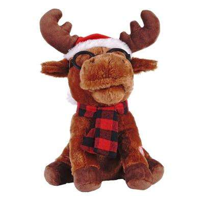 12 in. Animated Plush Singing Moose with moving Head and Mouth