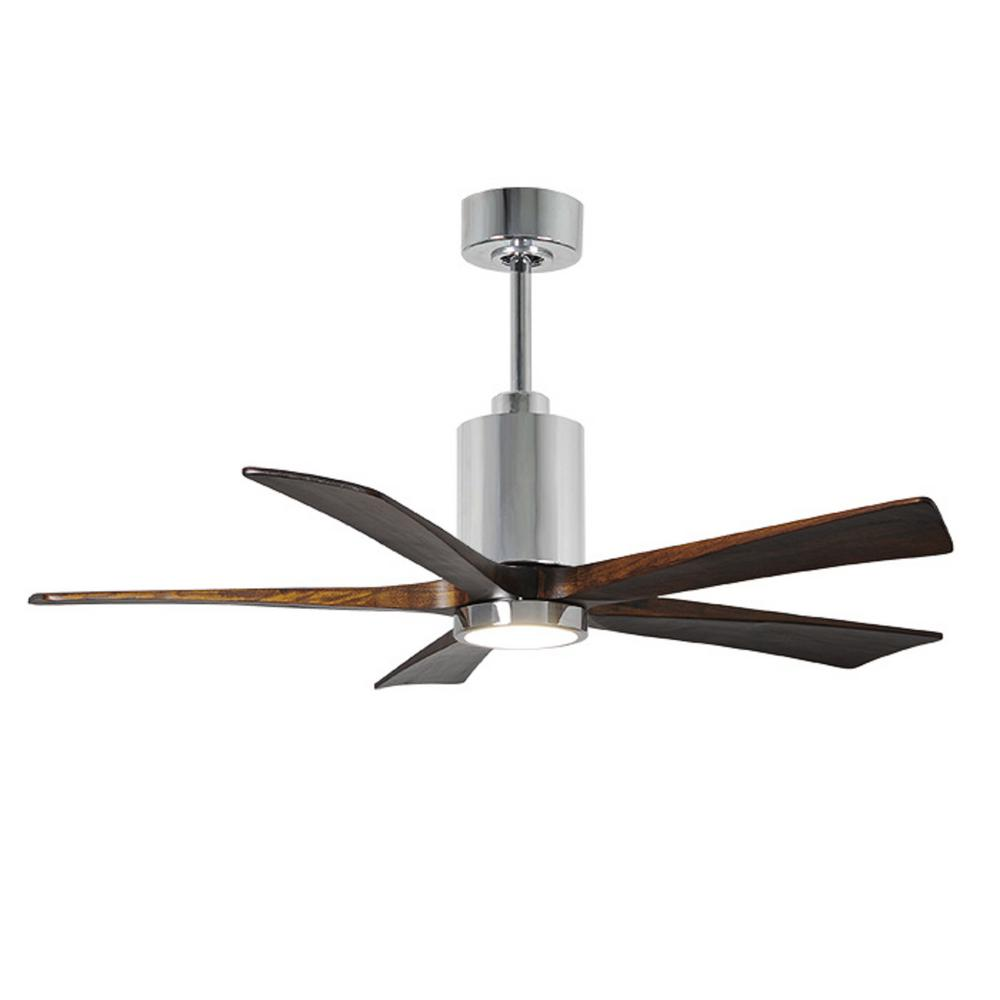Patricia 52 in. LED Indoor/Outdoor Damp Polished Chrome Ceiling Fan with
