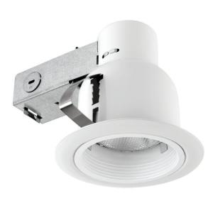 Globe Electric 4 inch Open Indoor/Outdoor White Recessed Lighting Kit by Globe Electric