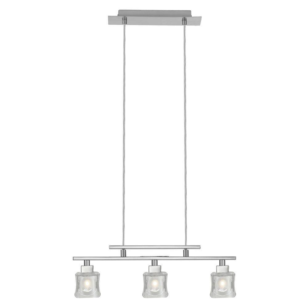 Eglo Tanga 3-Light Matte Nickel Linear Chandelier