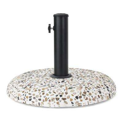 Jamir 45 lbs. Concrete and Steel Patio Umbrella Base in Colorful Stone