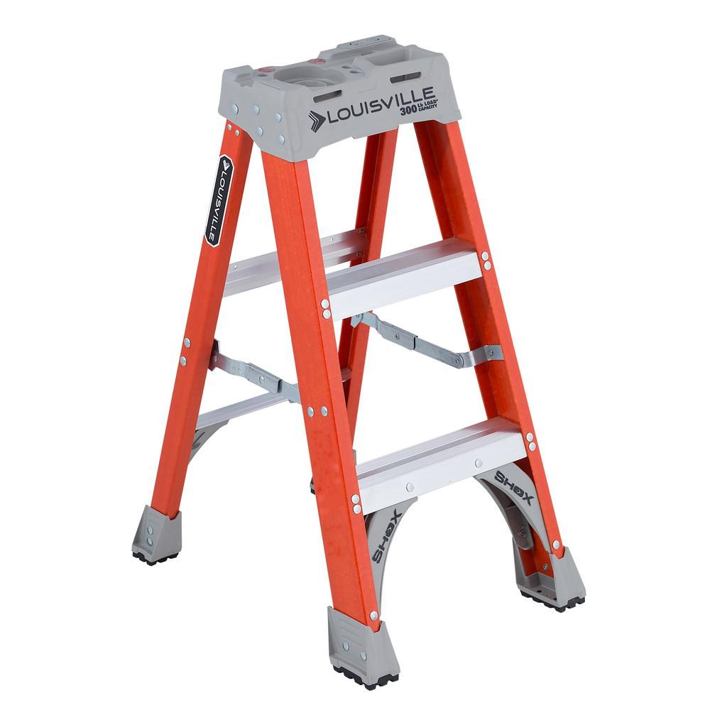 3 ft. Fiberglass Step Ladder with 300 lbs. Load Capacity Type