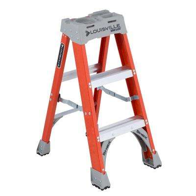 3 ft. Fiberglass Step Ladder with 300 lbs. Load Capacity Type IA Duty Rating