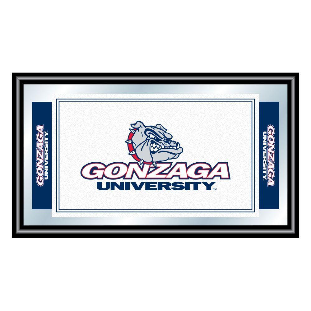Gonzaga University 15 in. x 26 in. Black Wood Framed Mirror